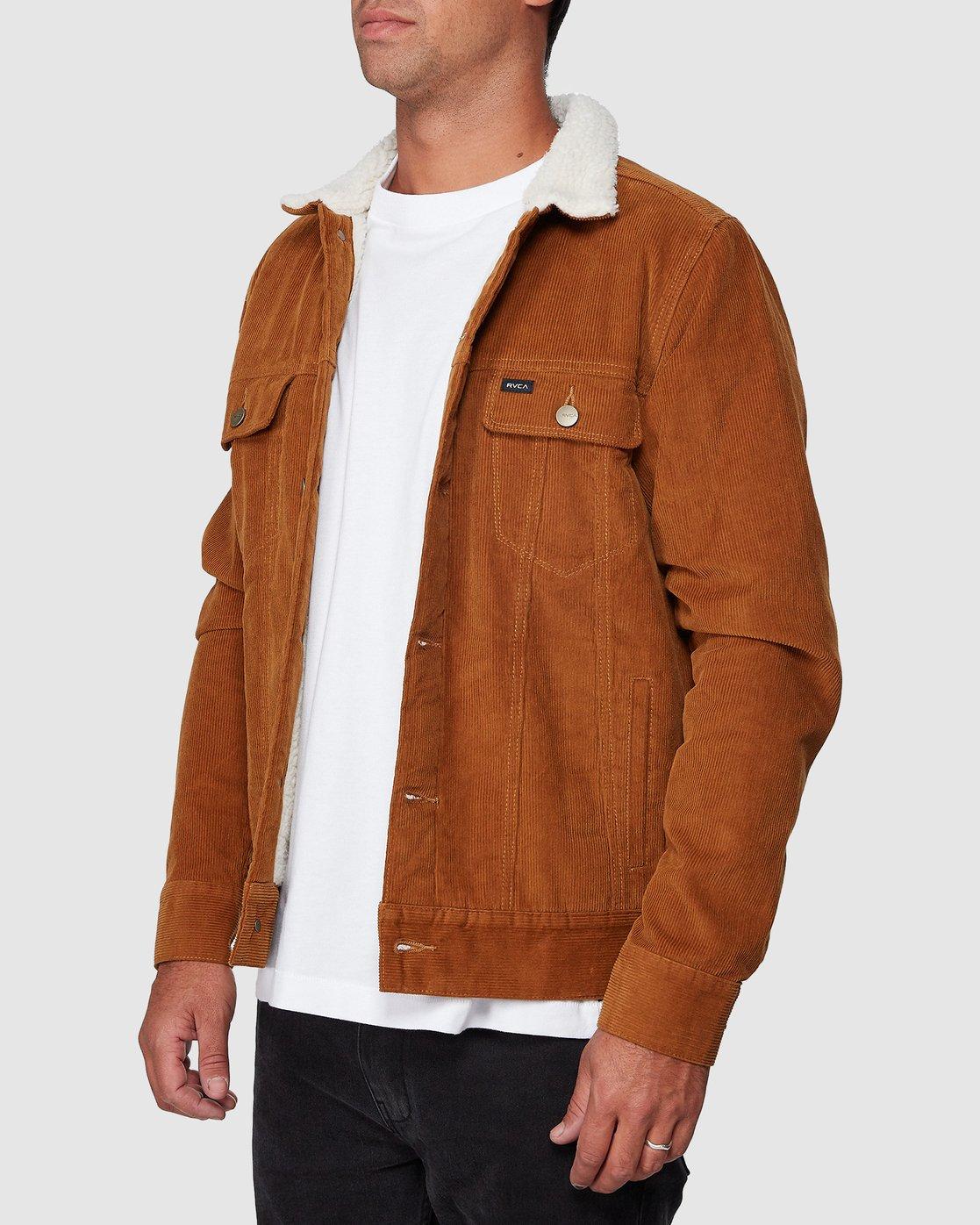 2 Daggers Cord Sherpa Jacket  R107433 RVCA