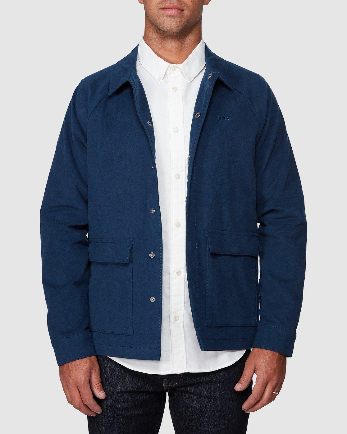 1 RVCA Cairo Jacket Blue R107437 RVCA