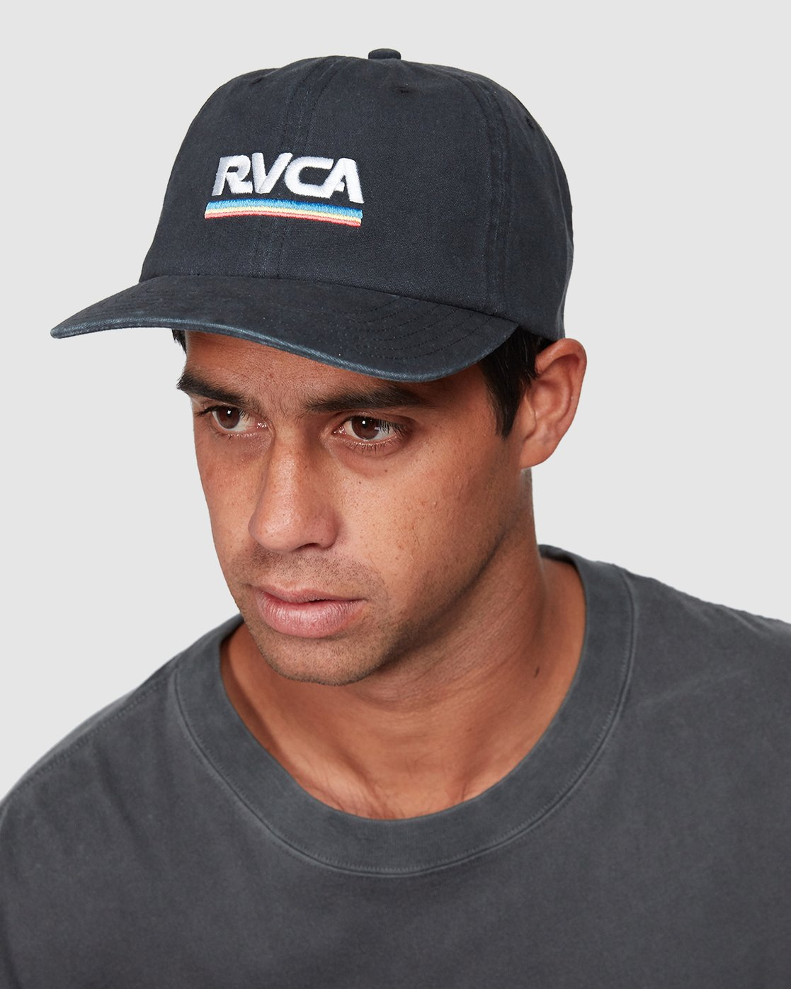 3 Attacker Snapback Cap Black R107565 RVCA