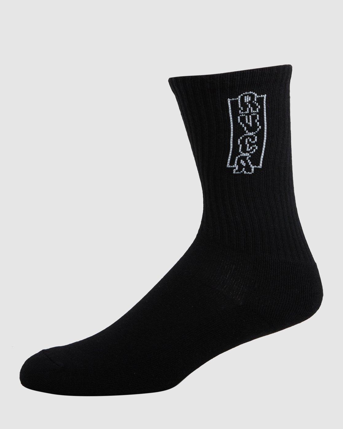 2 RVCA Multi Sock - 4 Pack  R107601 RVCA