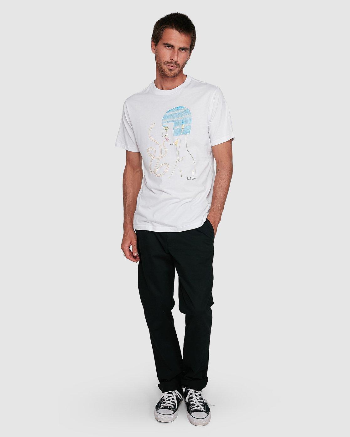 5 Ed Speak Short Sleeve Tee White R108041 RVCA