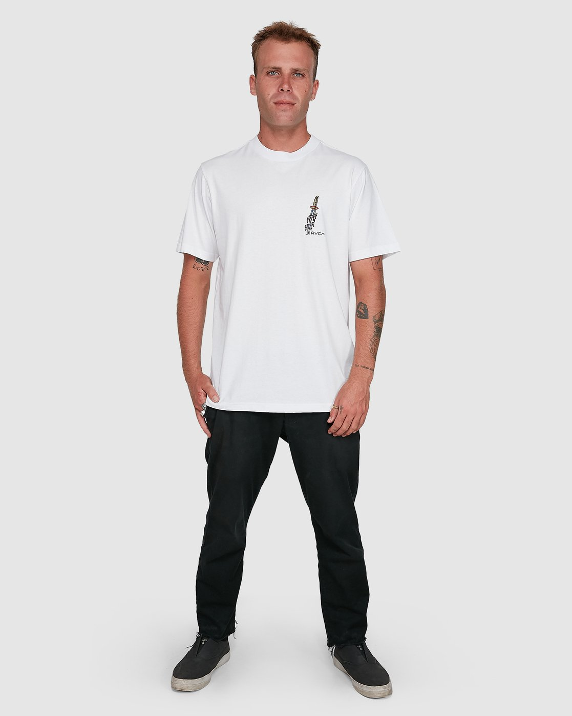6 Frank Knives Short Sleeve Tee White R108042 RVCA