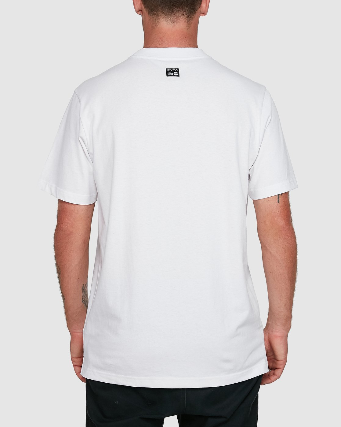 3 Frank Knives Short Sleeve Tee White R108042 RVCA