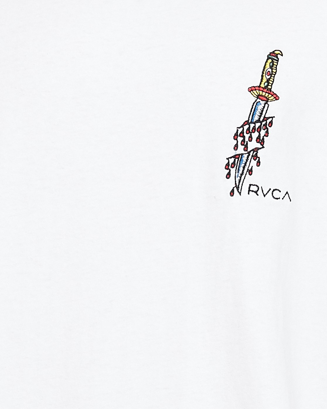 5 Frank Knives Short Sleeve Tee White R108042 RVCA