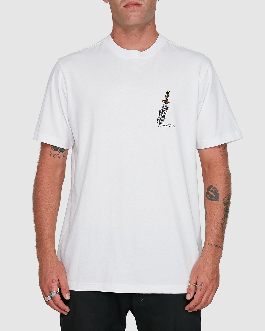 1 Frank Knives Short Sleeve Tee White R108042 RVCA