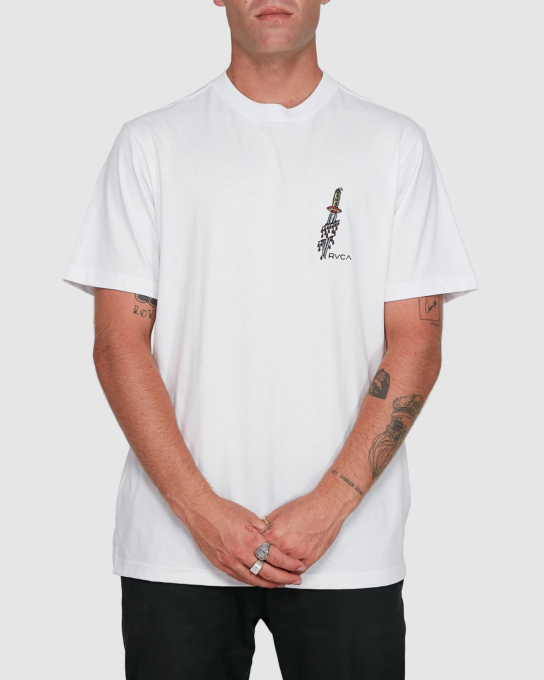 0 Frank Knives Short Sleeve Tee White R108042 RVCA