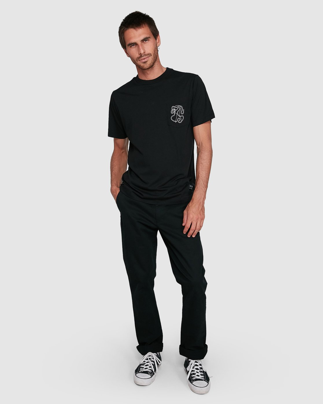 5 Headline Pocket Short Sleeve Tee  R108043 RVCA