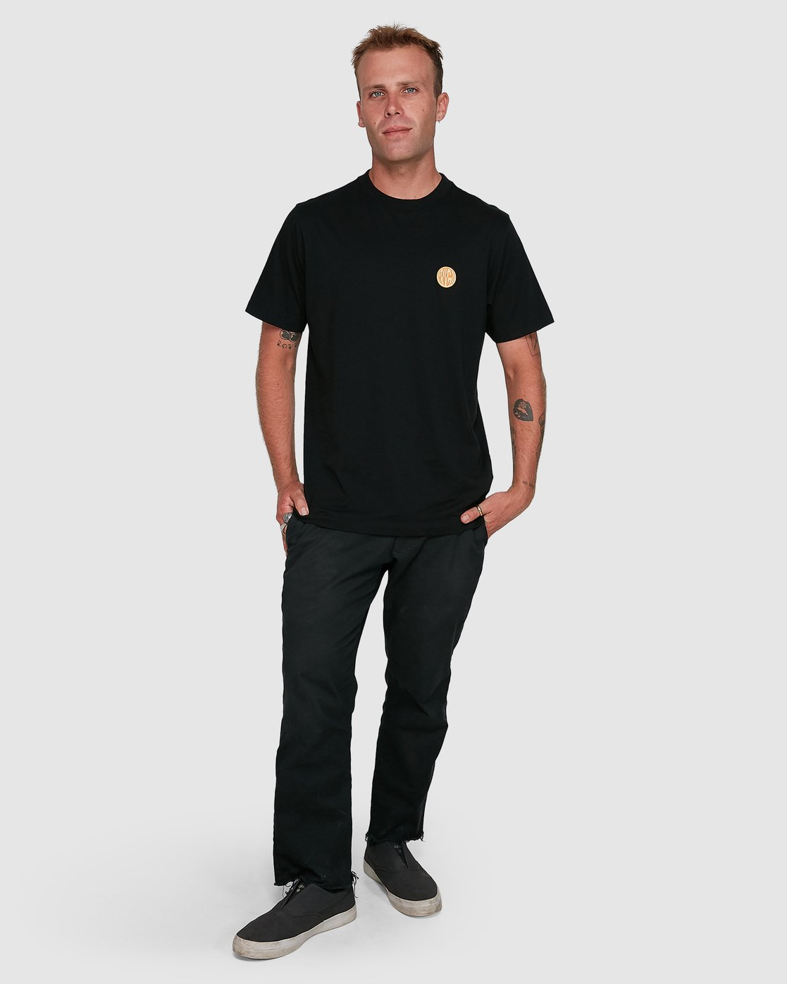 6 Rave Ball Short Sleeve Tee Black R108046 RVCA