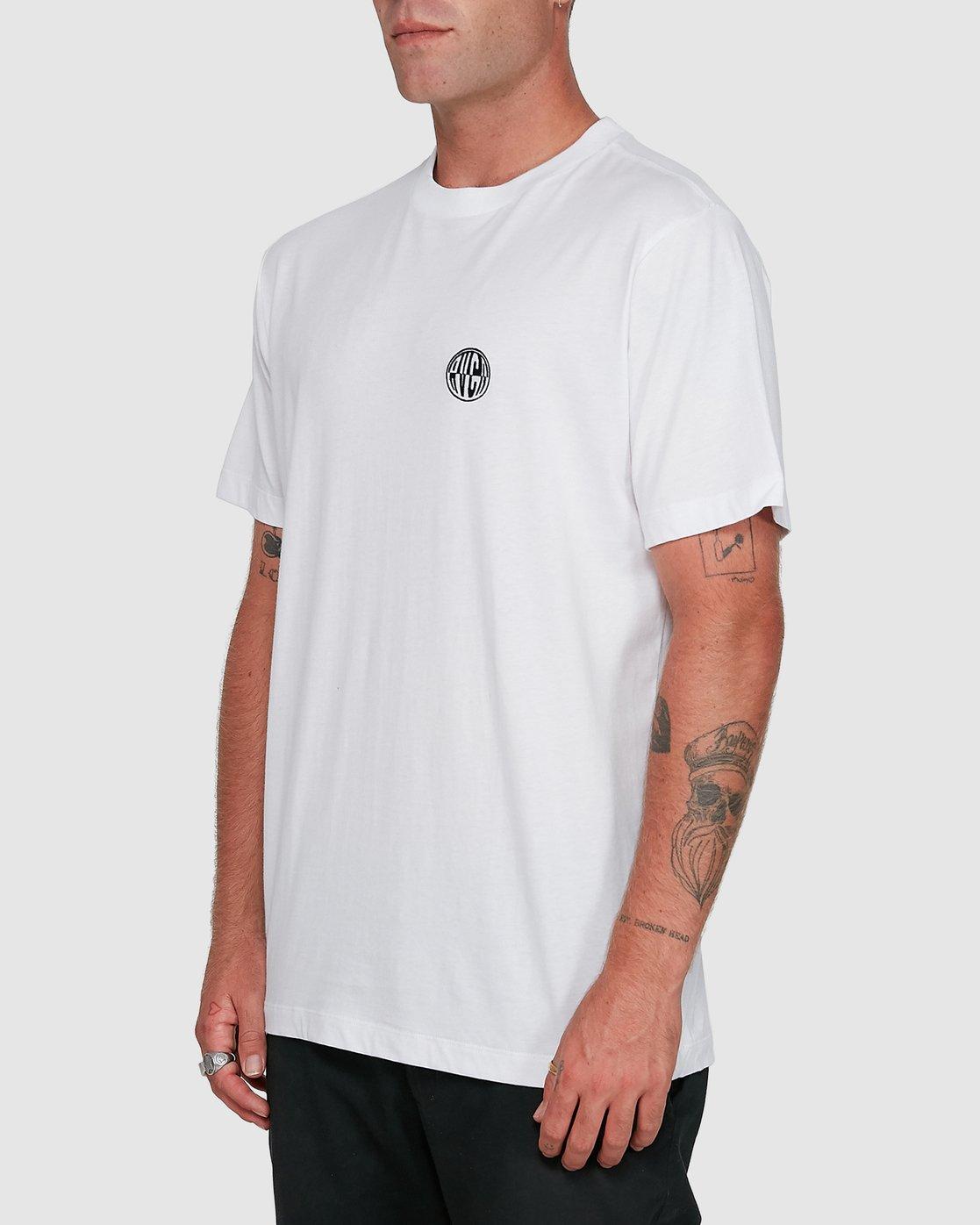 2 Rave Ball Short Sleeve Tee White R108046 RVCA
