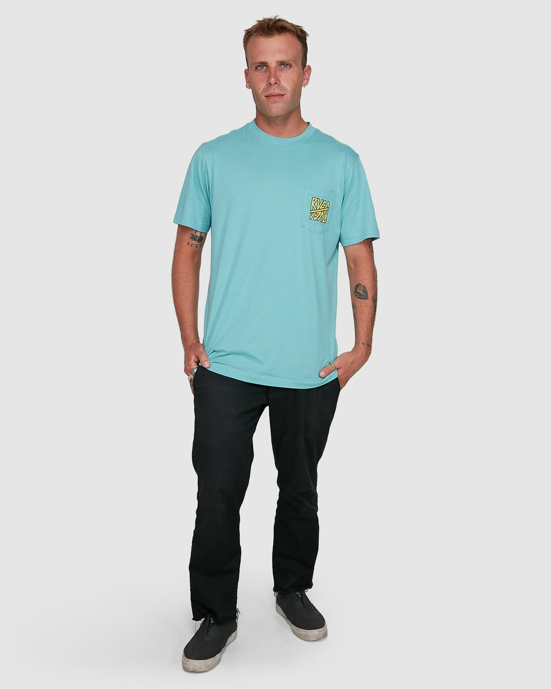 6 Sequel Short Sleeve Tee Blue R108047 RVCA