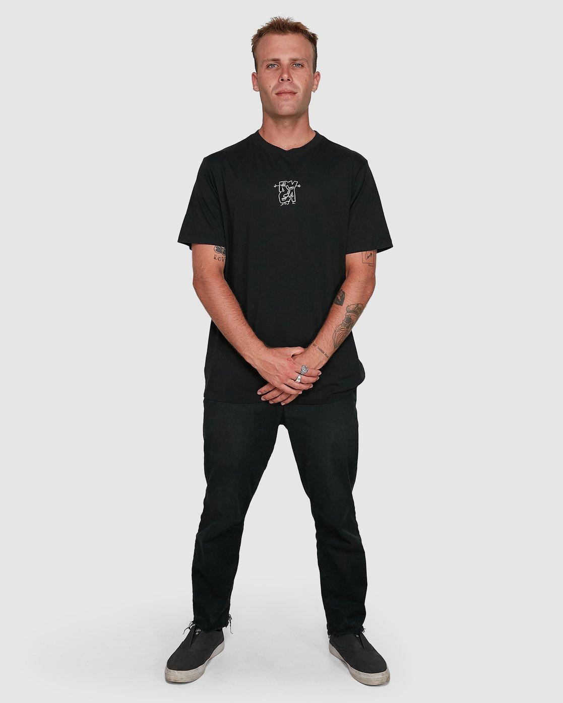 6 Dudes Short Sleeve Tee Black R108049 RVCA