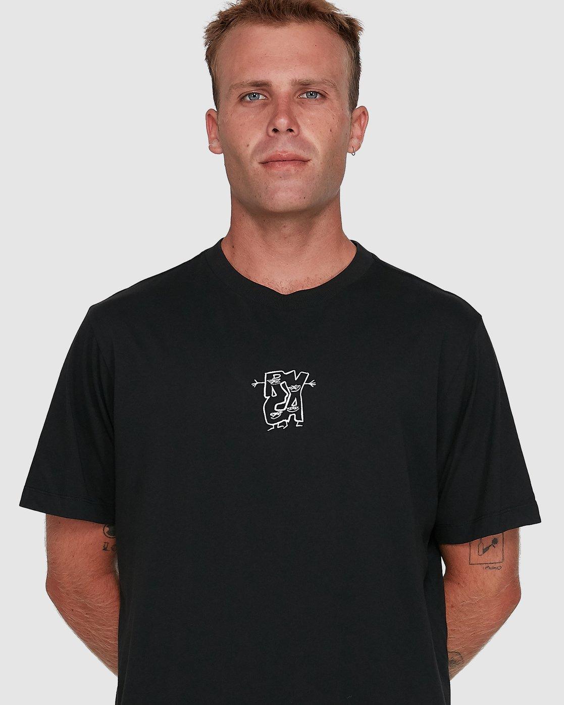 4 Dudes Short Sleeve Tee Black R108049 RVCA