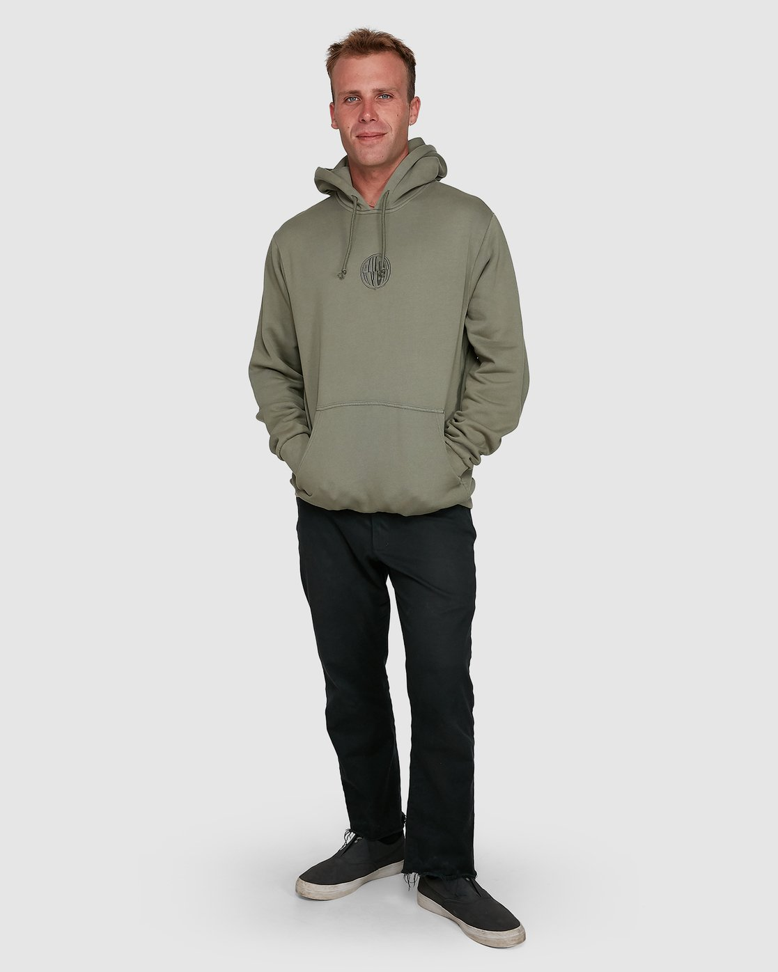 7 Rave Ball Pullover Hoodie Green R108153 RVCA