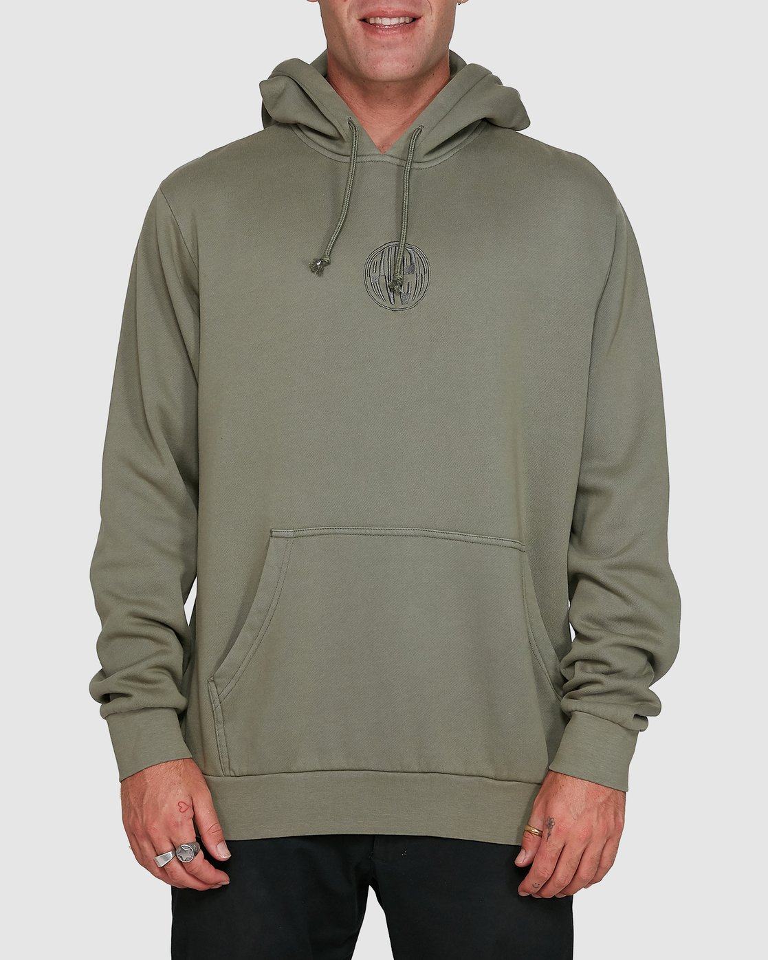 1 Rave Ball Pullover Hoodie Green R108153 RVCA