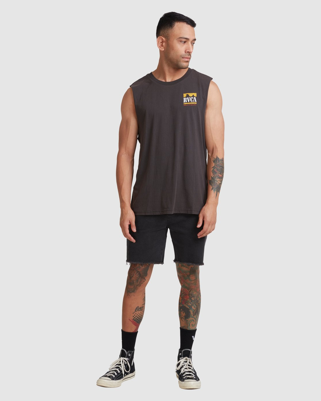 4 PACKETS MUSCLE Black R117001 RVCA