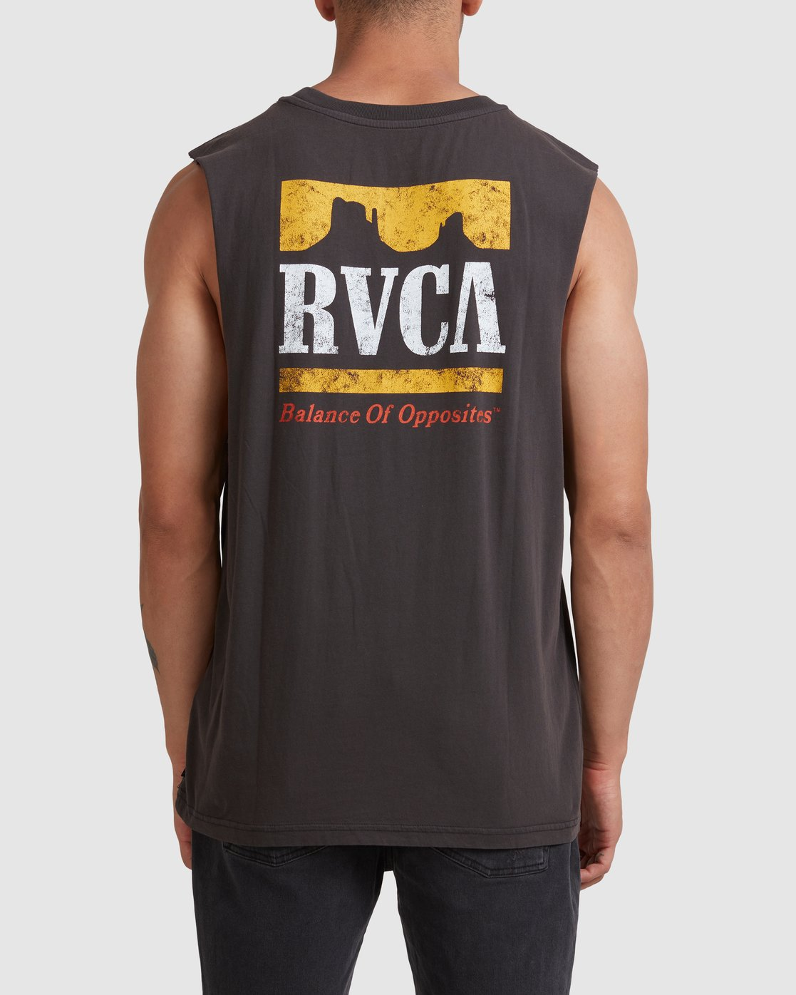 2 PACKETS MUSCLE Black R117001 RVCA