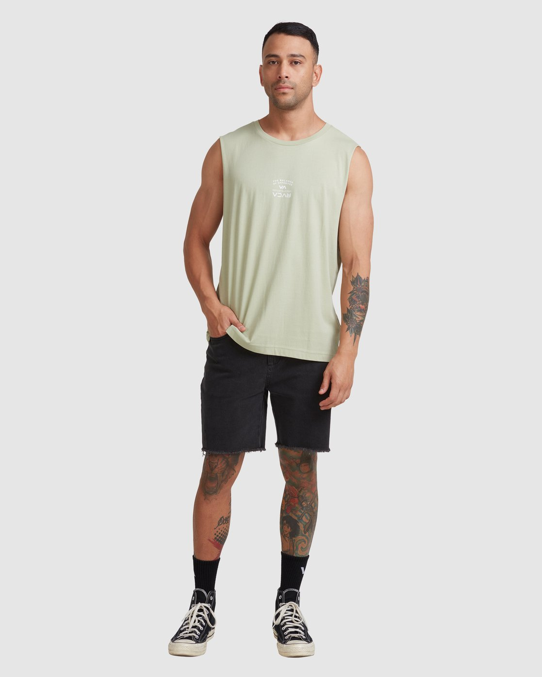 4 Bend It Like RVCA Muscle Green R117002 RVCA