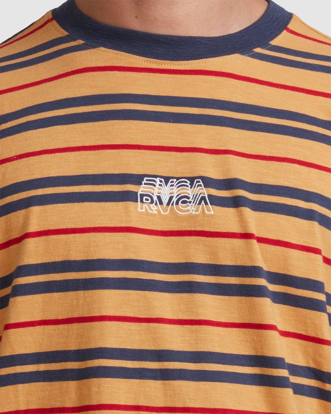 3 RVCA SHADOW STRIPE SHORT SLEEVE TEE Grey R117046 RVCA