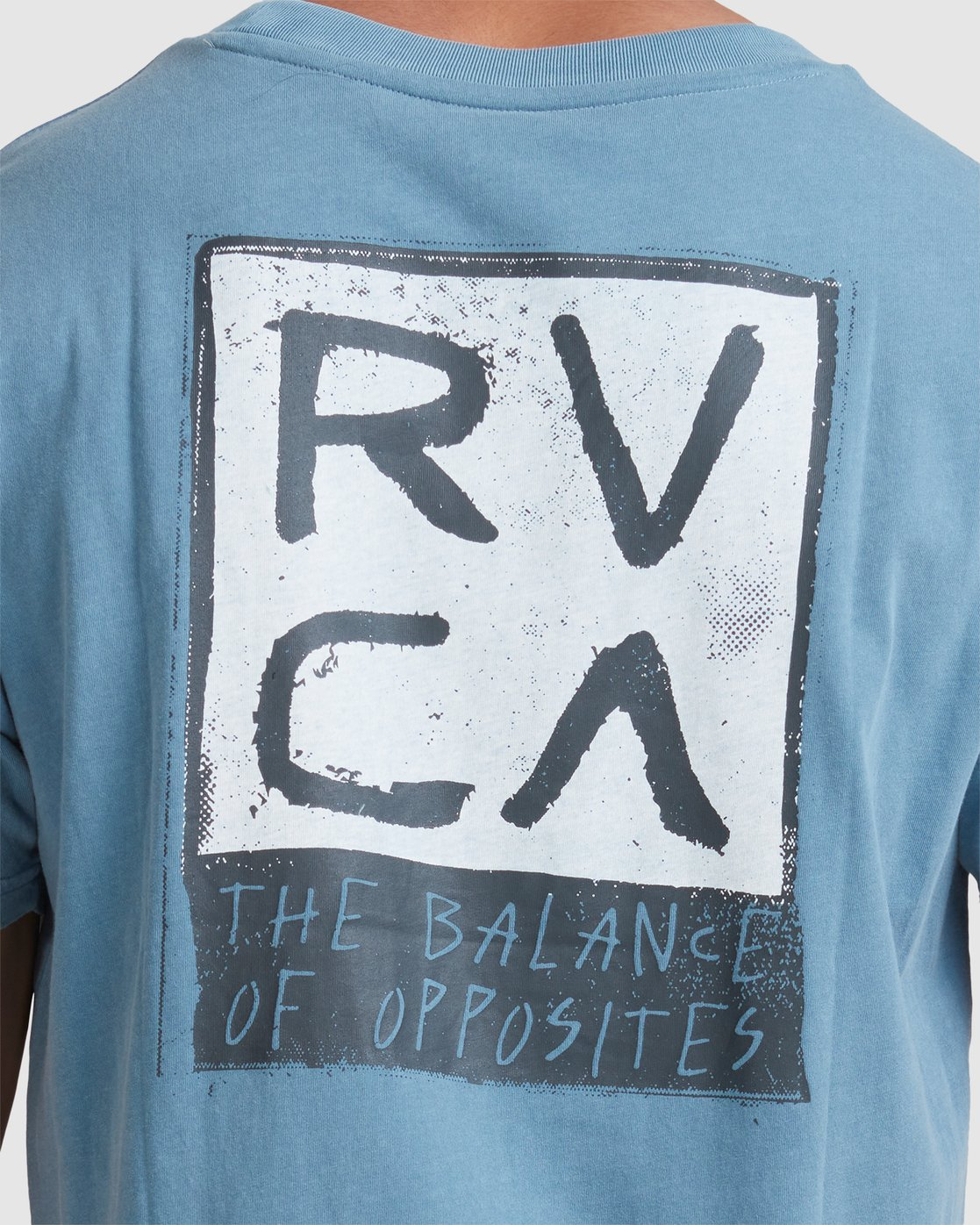 3 RVCA SCRAM SHORT SLEEVE TEE Blue R117047 RVCA