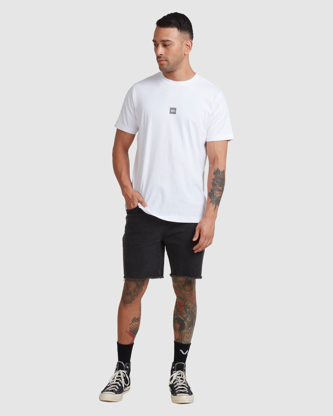 4 DOWN THE SPINE SHORT SLEEVE TEE White R117053 RVCA