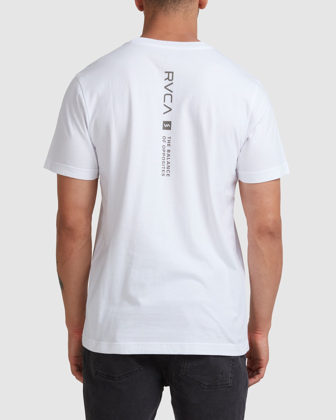 2 DOWN THE SPINE SHORT SLEEVE TEE White R117053 RVCA