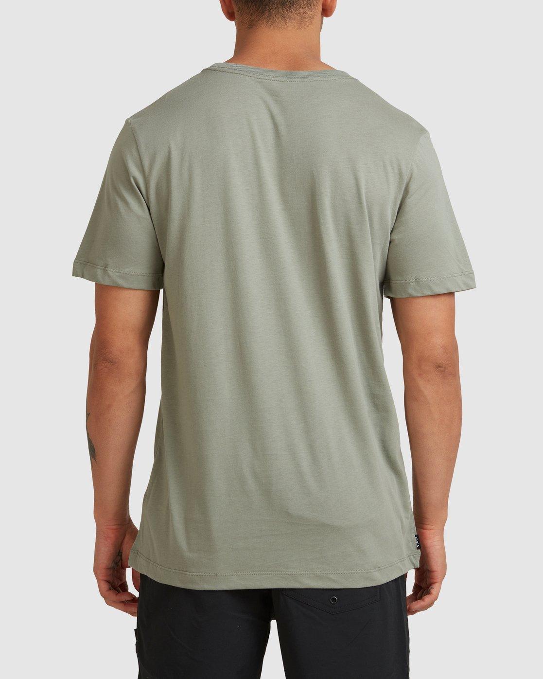 2 RVCA BASIC TEE Green R117067 RVCA