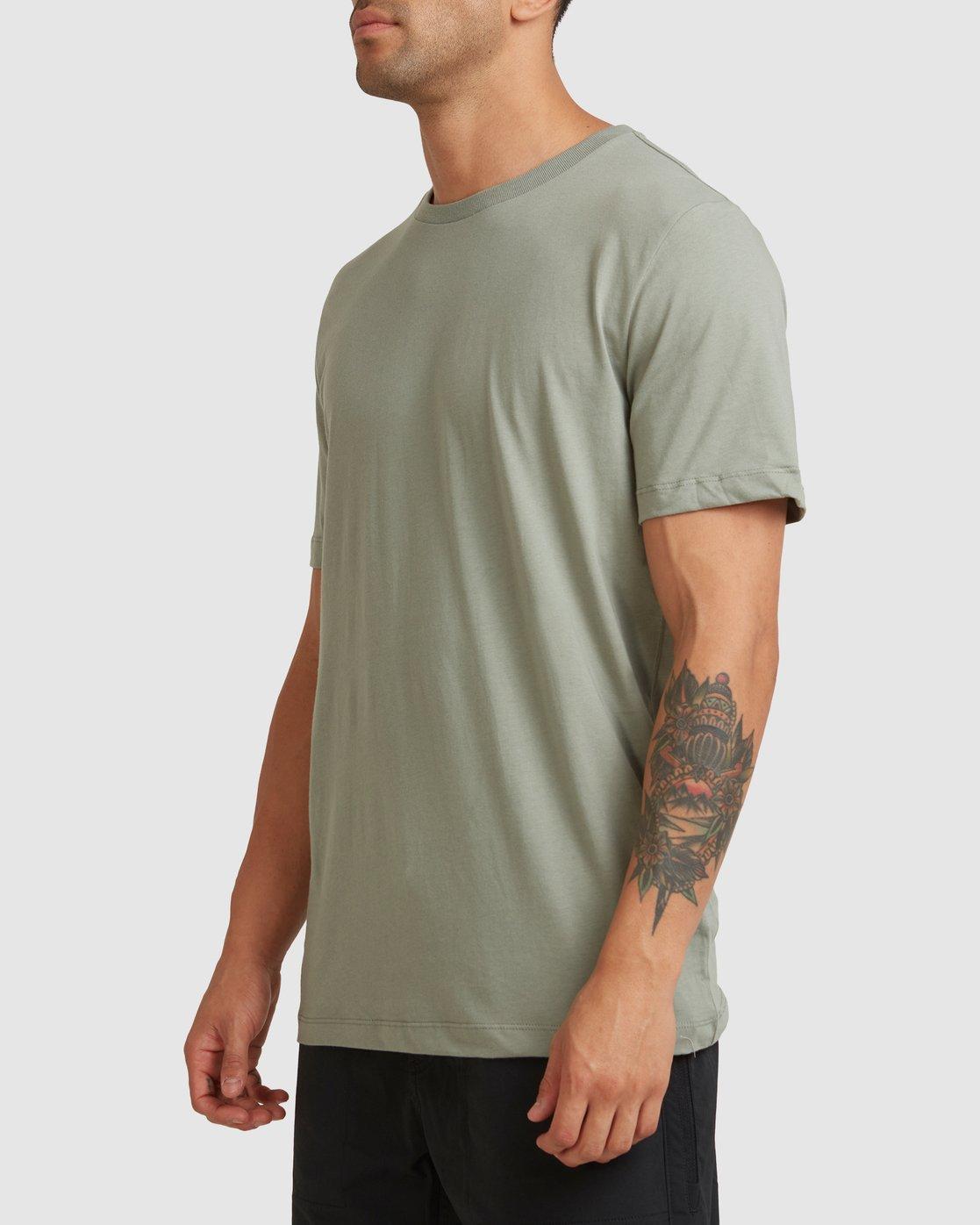 1 RVCA BASIC TEE Green R117067 RVCA