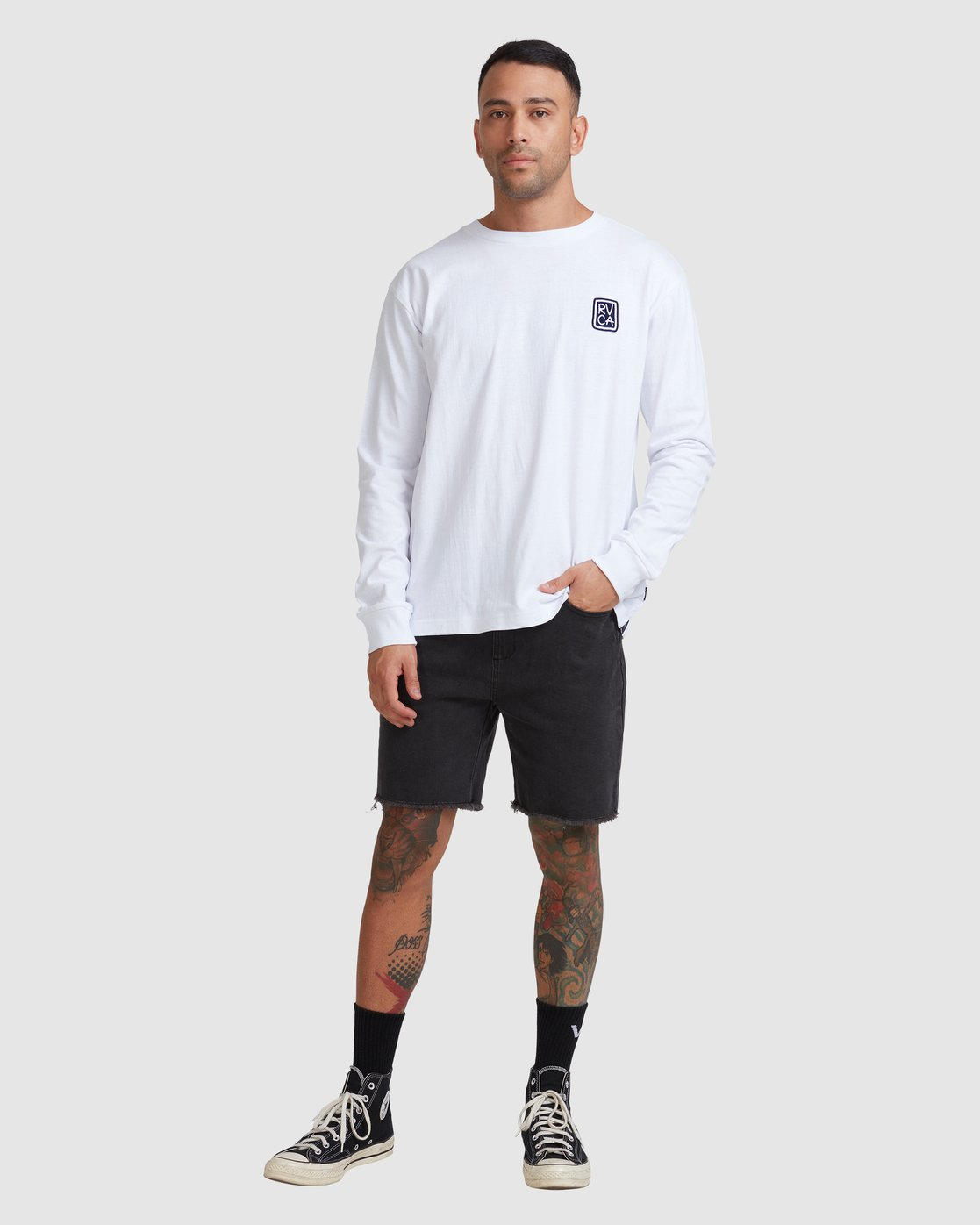 4 Noodles Long Sleeve Tee White R117092 RVCA