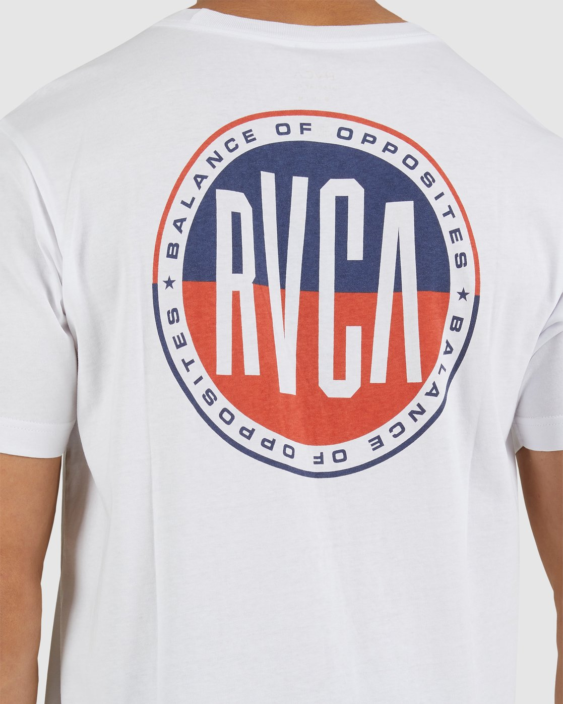 3 STAR BLAZER SHORT SLEEVE TEE White R118049 RVCA