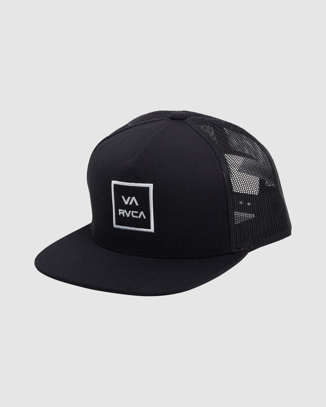 1 Va All The Way Trucker Cap Black R133569 RVCA