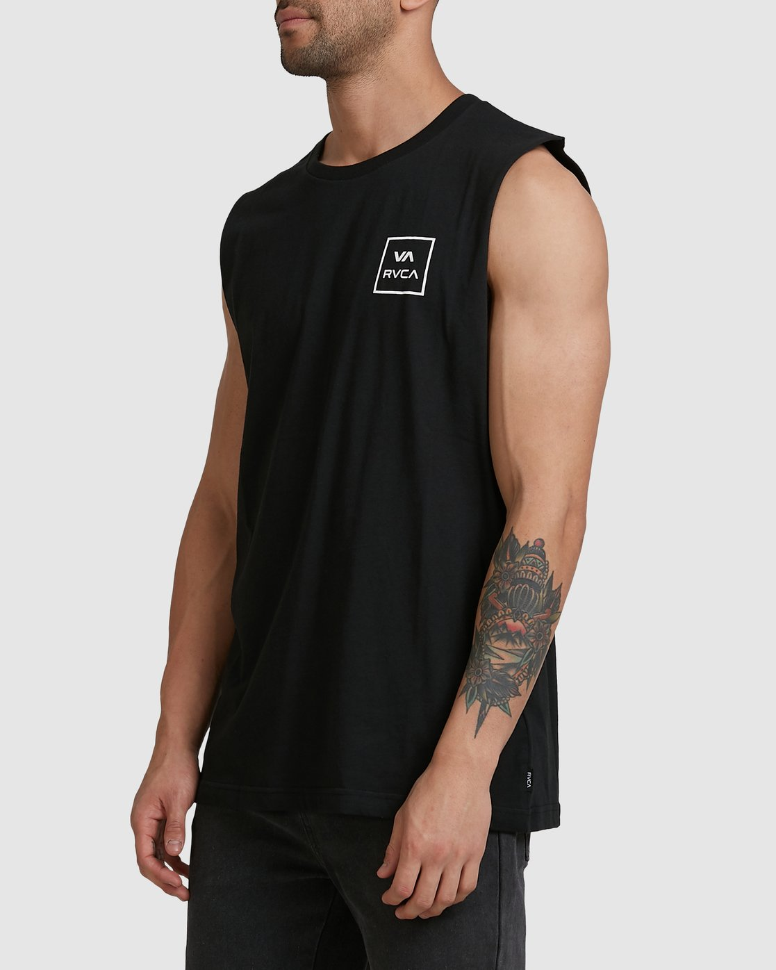 1 Va All The Way Muscle Top Black R151012 RVCA