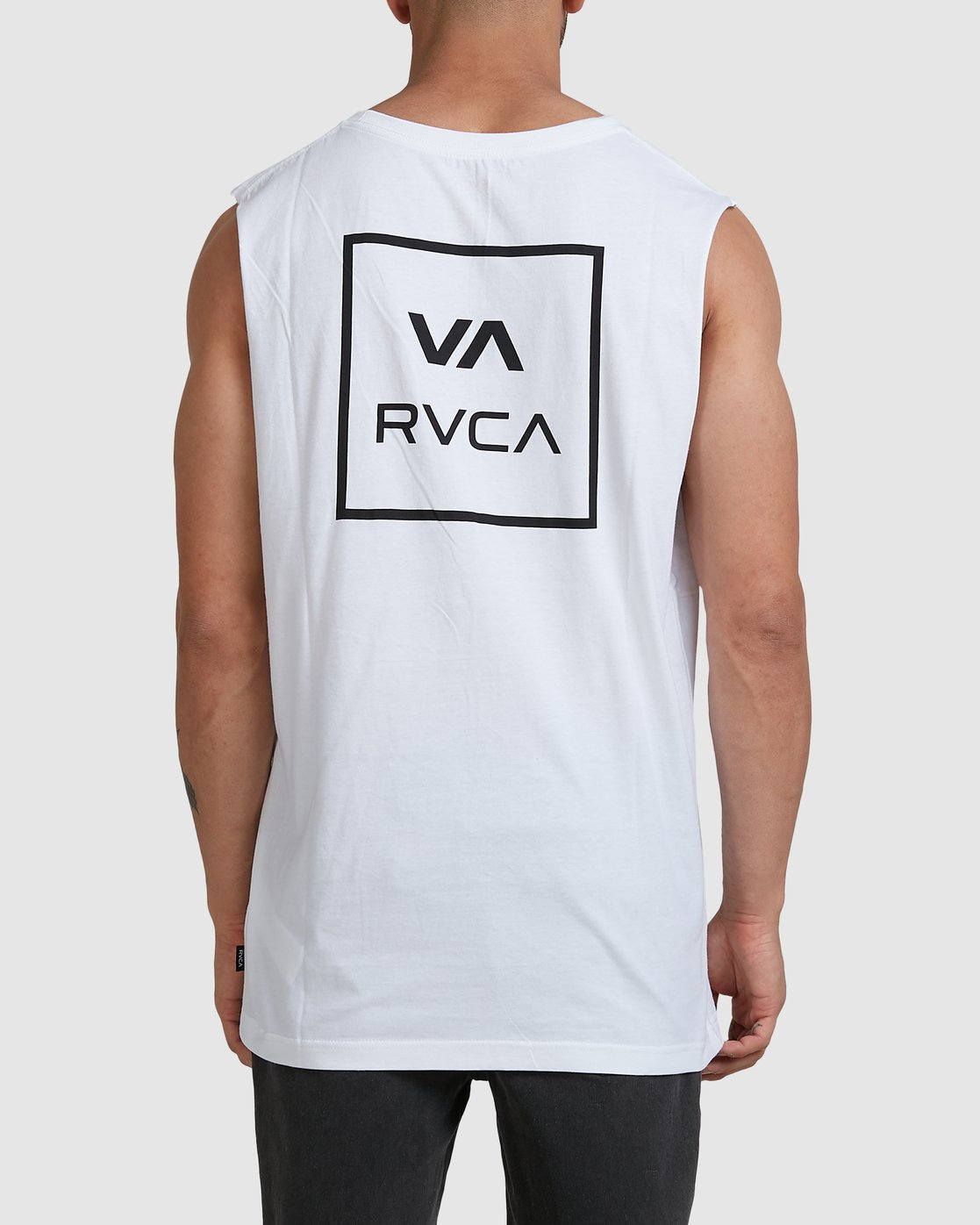 2 Va All The Way Muscle Top White R151012 RVCA