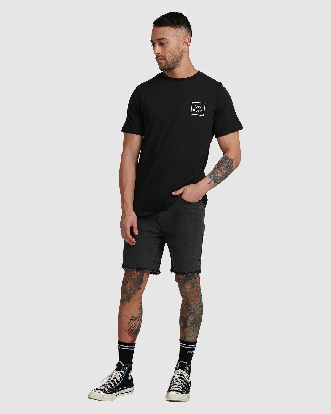 4 VA ALL THE WAYS SHORT SLEEVE TEE Black R172062 RVCA