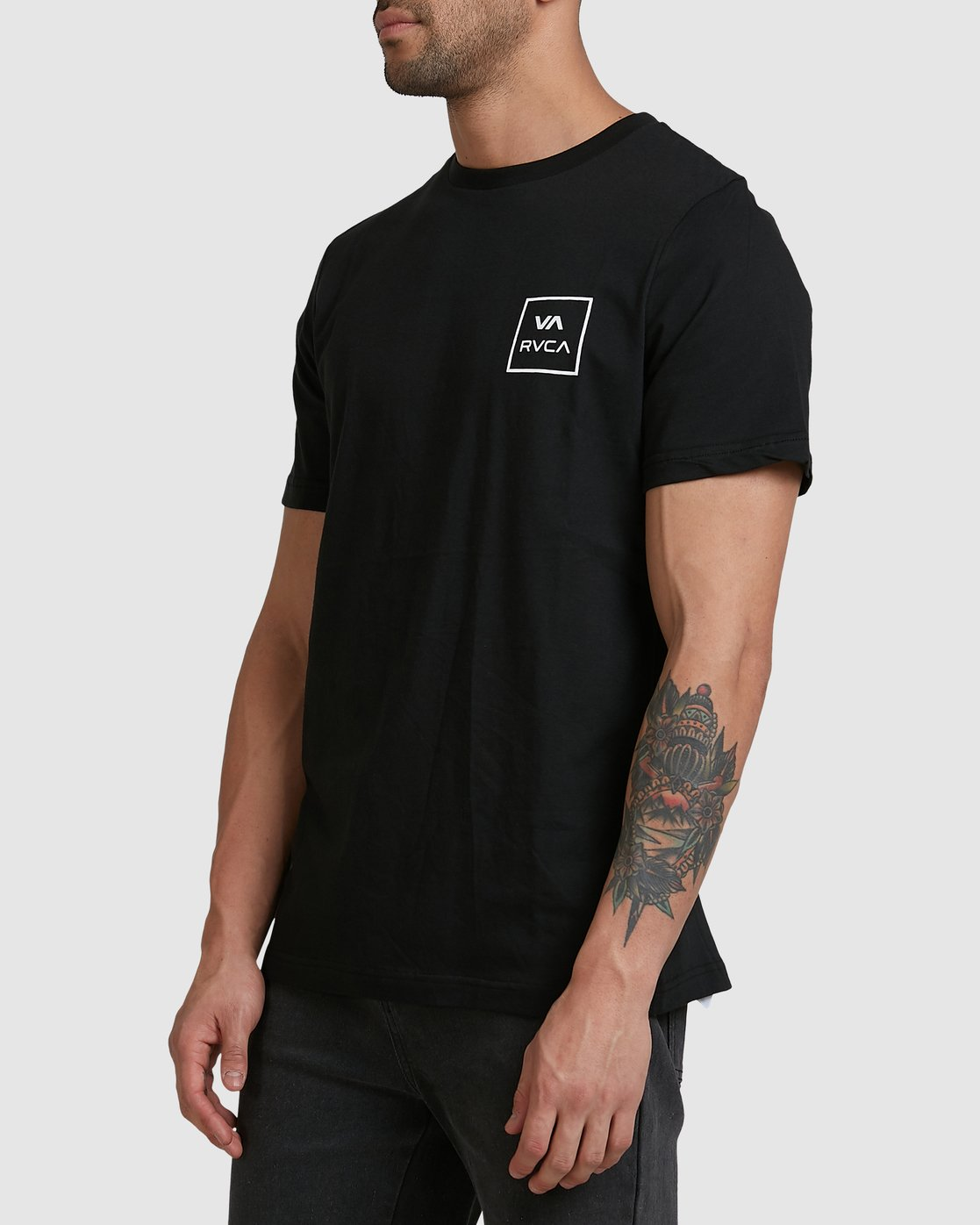 1 VA ALL THE WAYS SHORT SLEEVE TEE Black R172062 RVCA