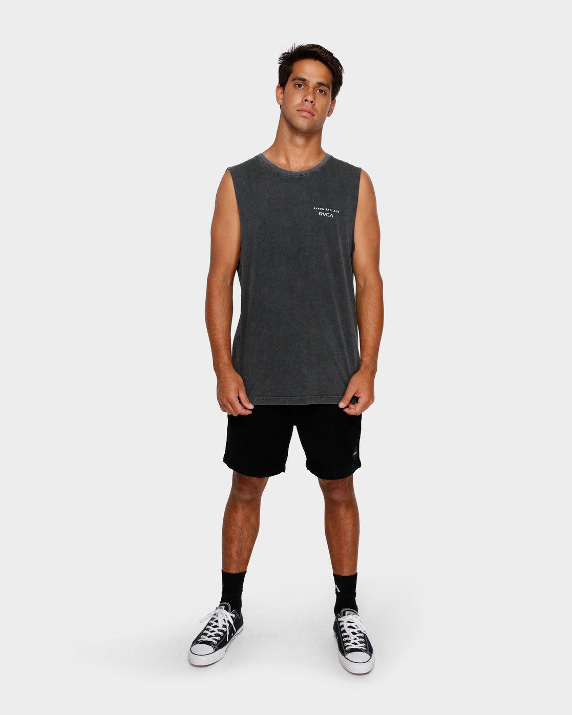 3 Byron Address Muscle Black R172133 RVCA