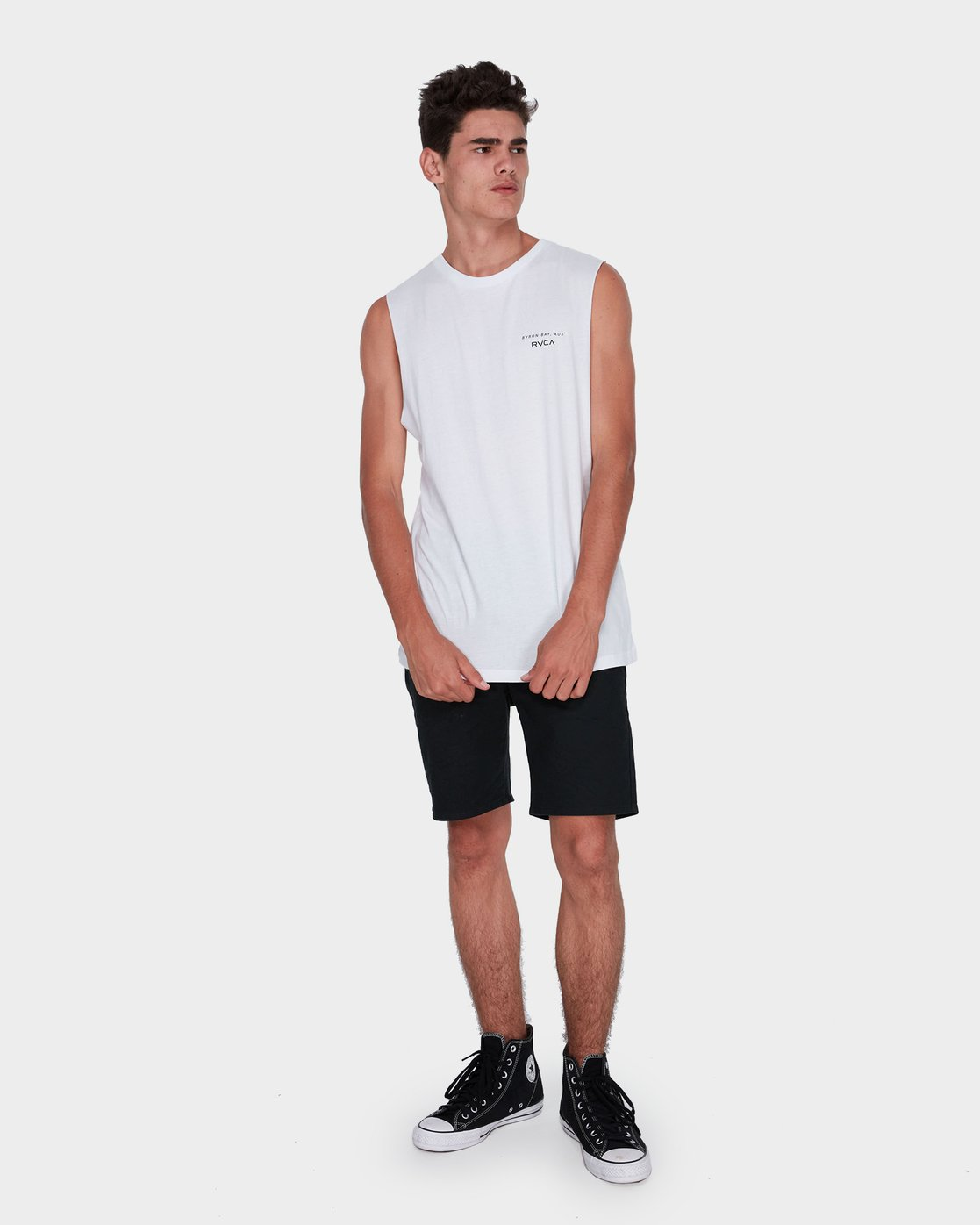 3 Byron Address Muscle White R172133 RVCA