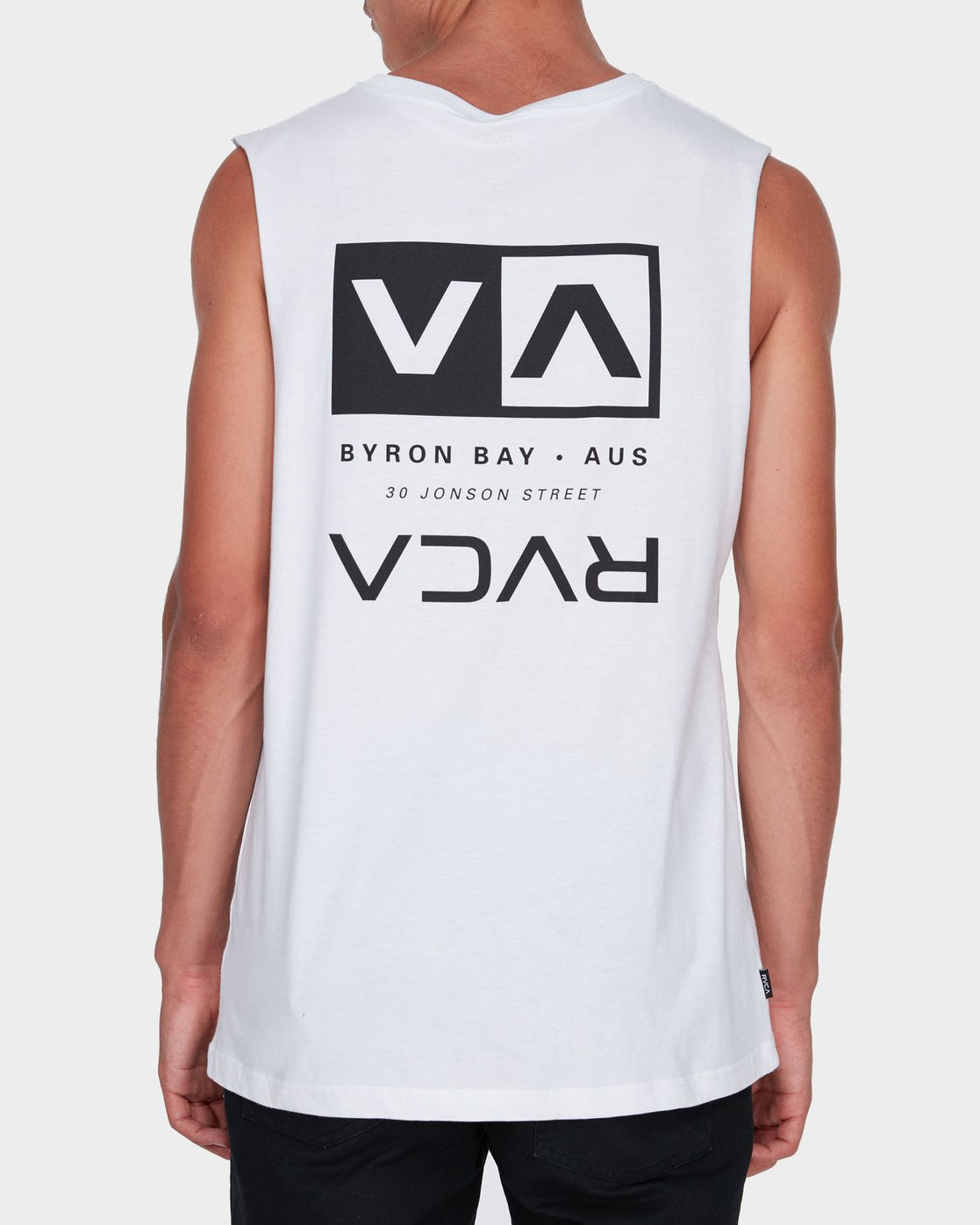 2 Byron Address Muscle White R172133 RVCA