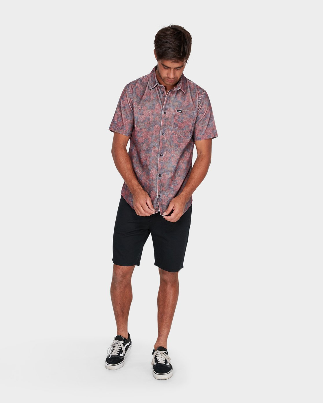 3 Marbles Floral Cord Short Sleeve  R172189 RVCA
