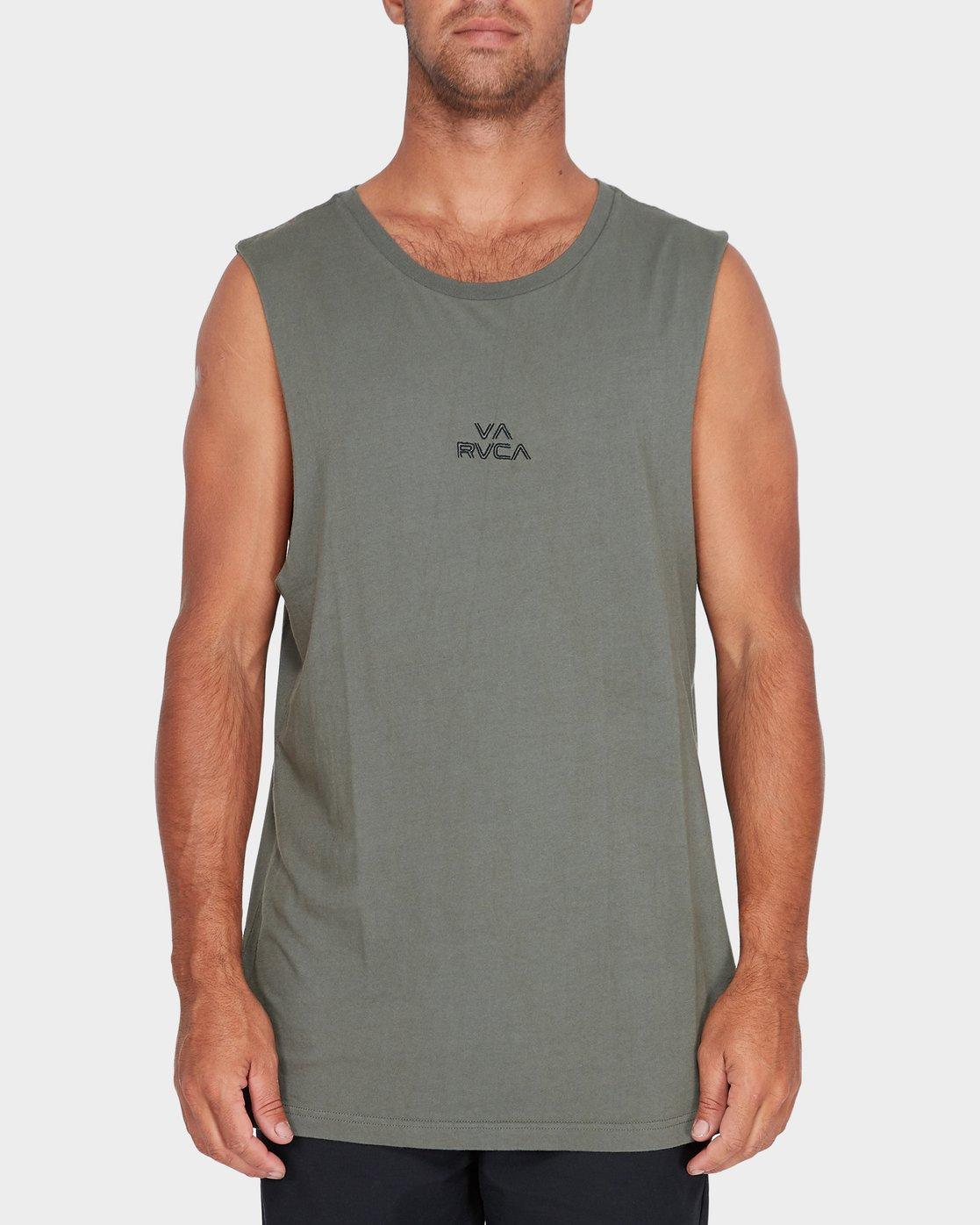 0 Pyramid Muscle Green R181012 RVCA
