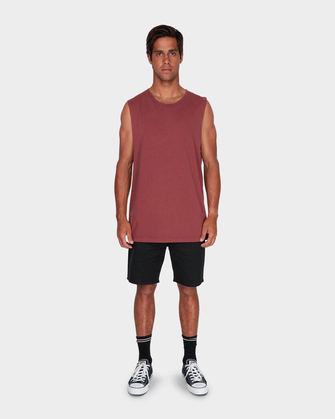 3 RVCA Pigment Fade Muscle  R181013 RVCA