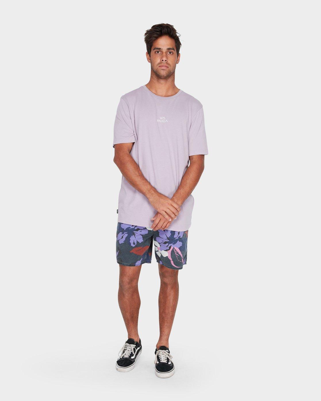 3 Pyramid T-Shirt Grey R181062 RVCA