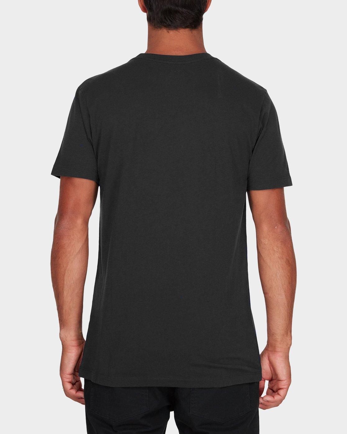 2 RVCA Pigment Fade T-Shirt Black R181066 RVCA