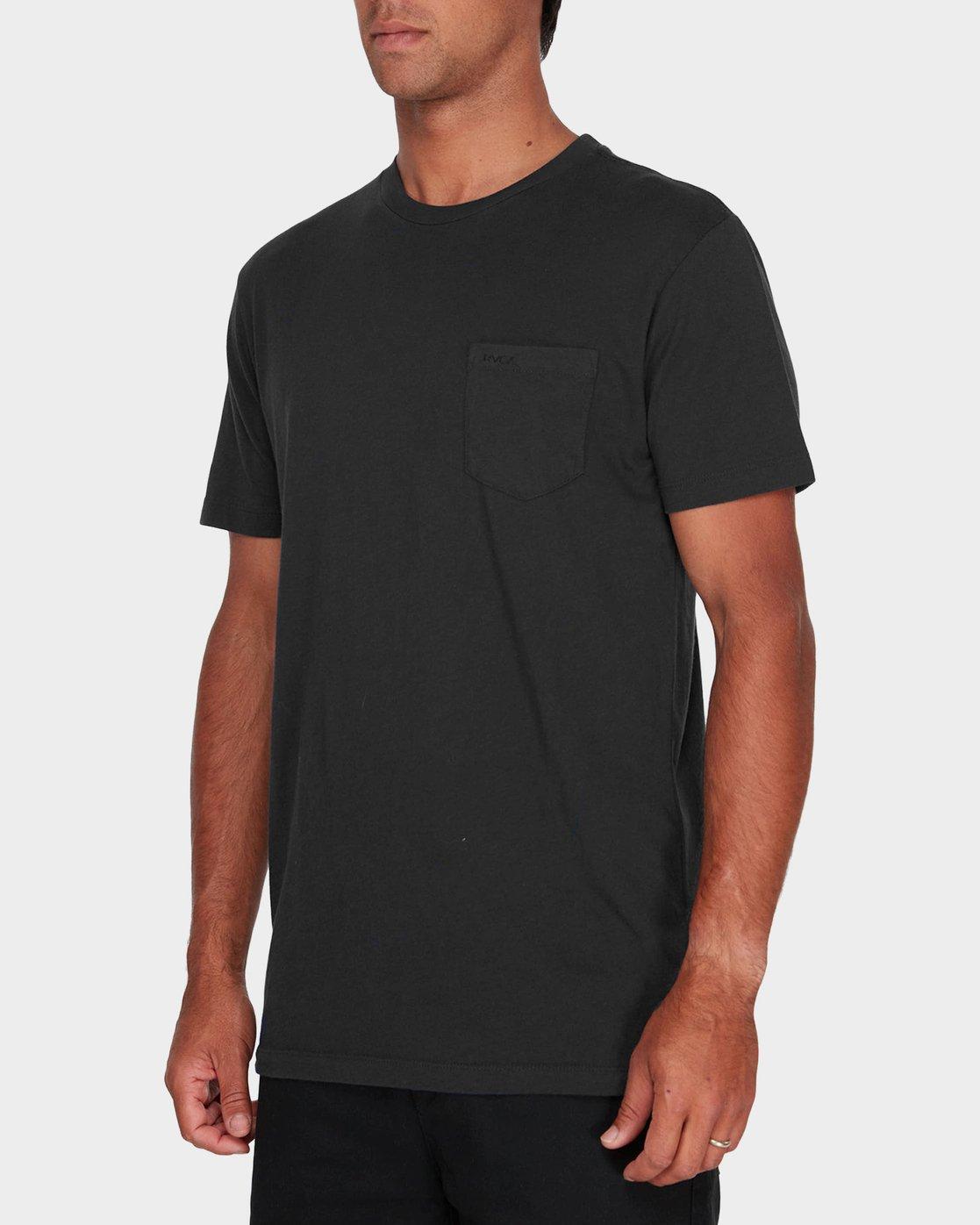 1 RVCA Pigment Fade T-Shirt Black R181066 RVCA