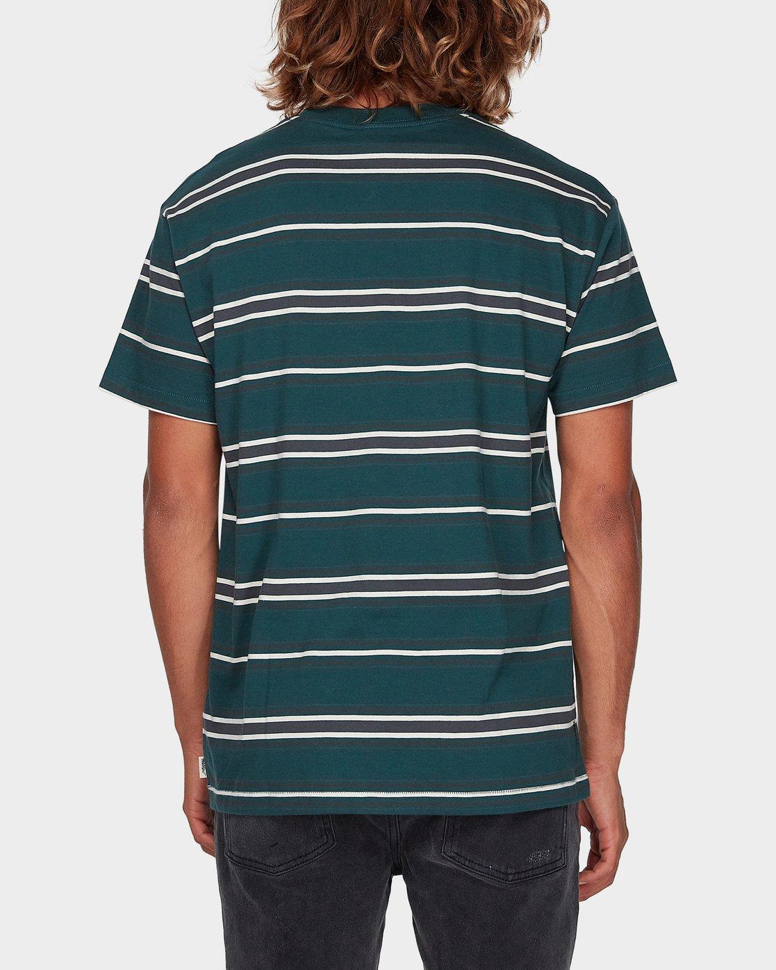 2 Moblow Stripe Short Sleeve T-Shirt  R181073 RVCA