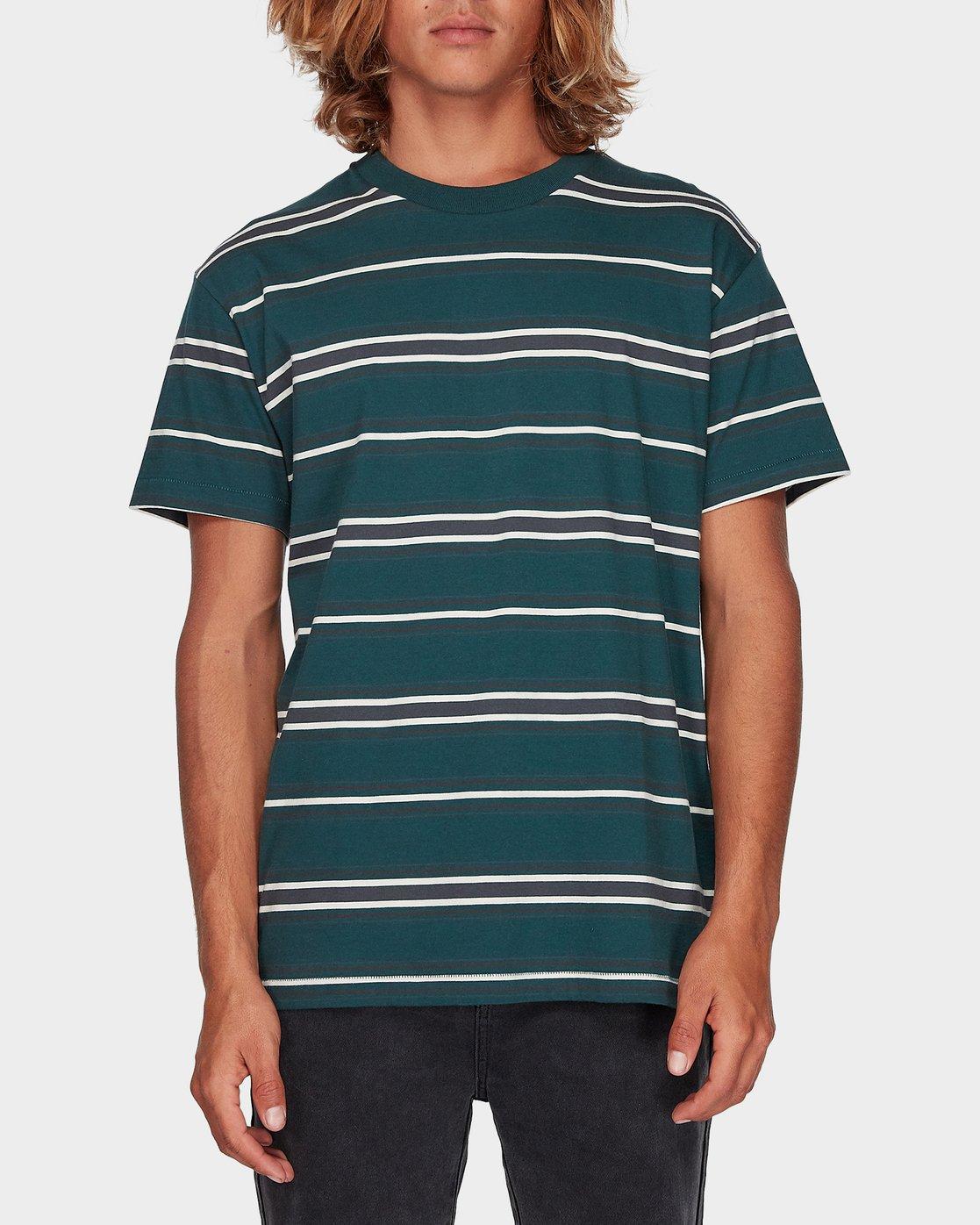 0 Moblow Stripe Short Sleeve T-Shirt  R181073 RVCA