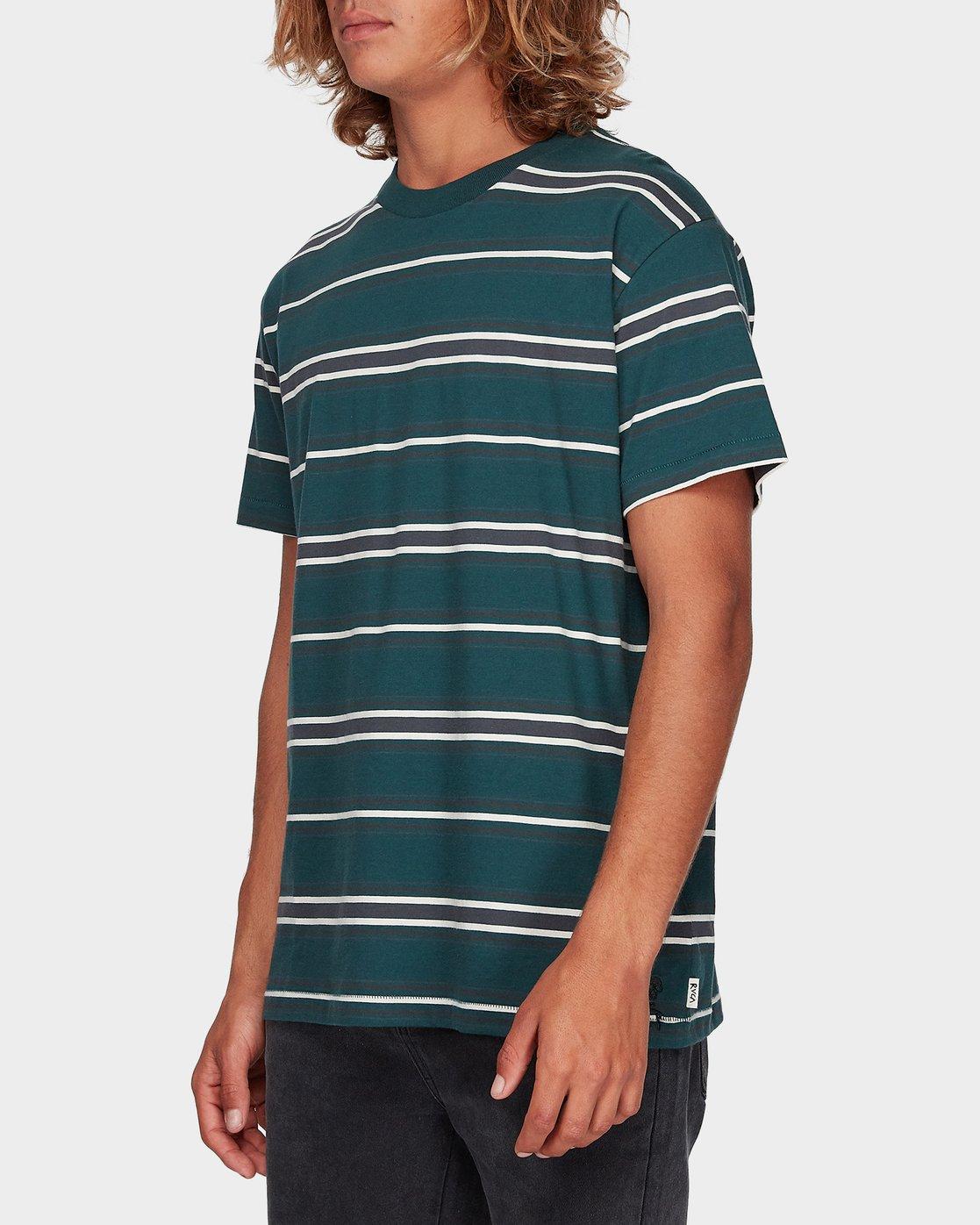 1 Moblow Stripe Short Sleeve T-Shirt  R181073 RVCA