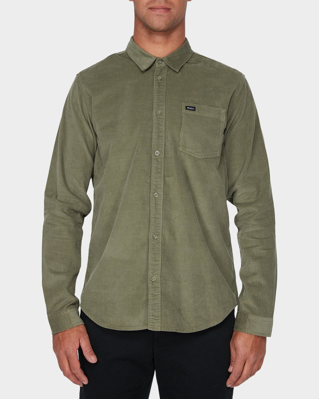0 Truest Long Sleeve Shirt Brown R181186 RVCA