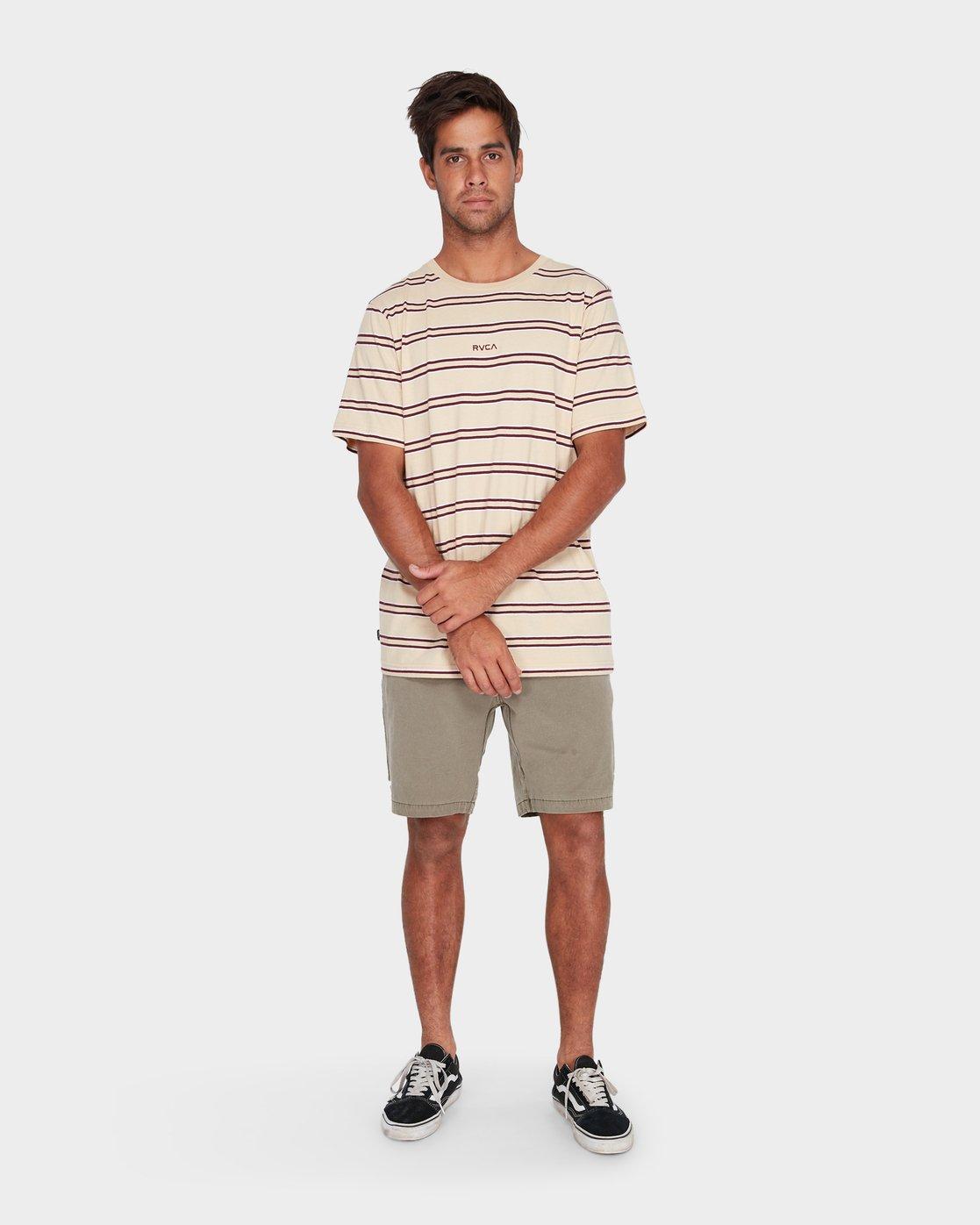 3 Focus Stripe Short Sleeve T-Shirt  R182051 RVCA
