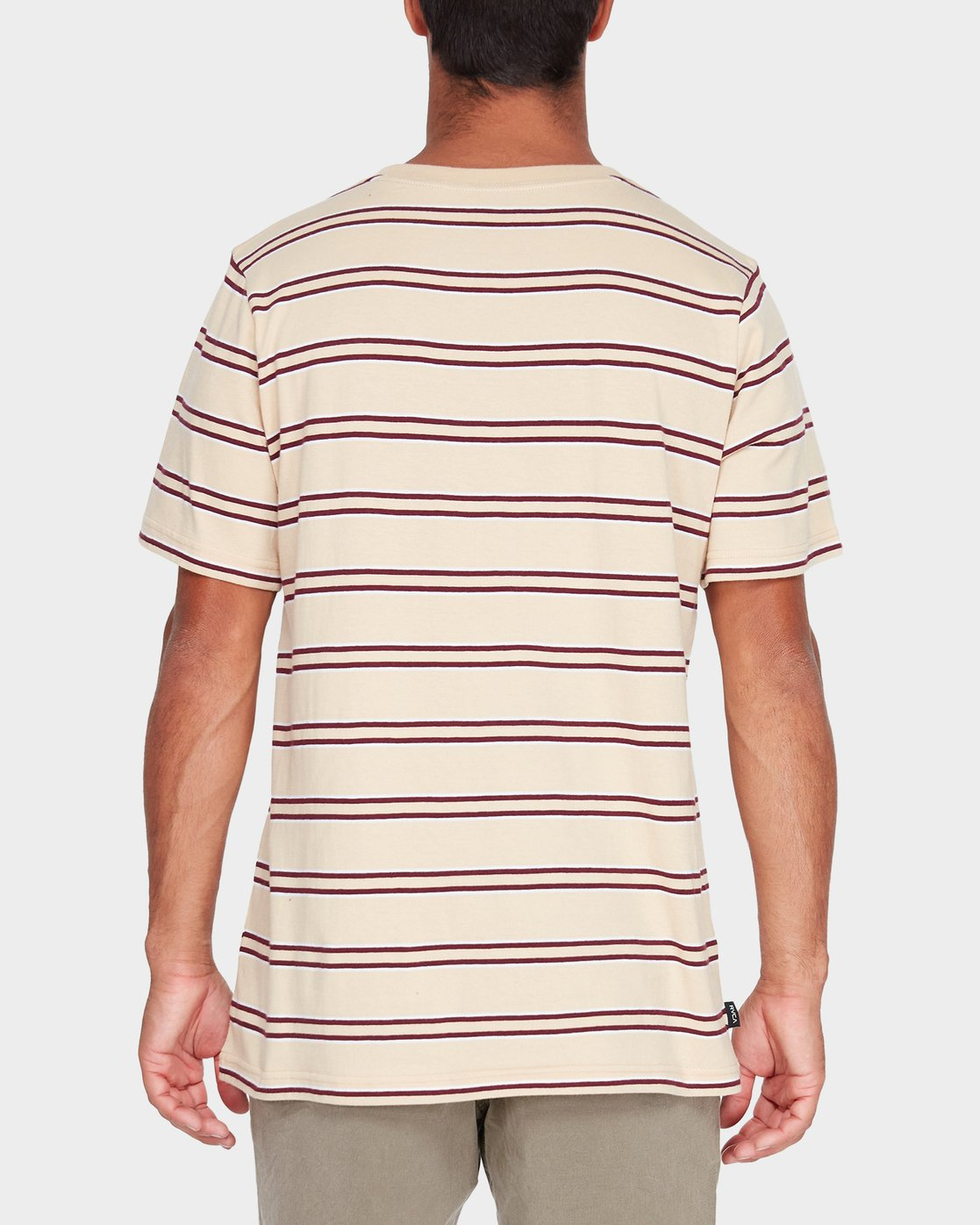 0 Focus Stripe Short Sleeve T-Shirt  R182051 RVCA