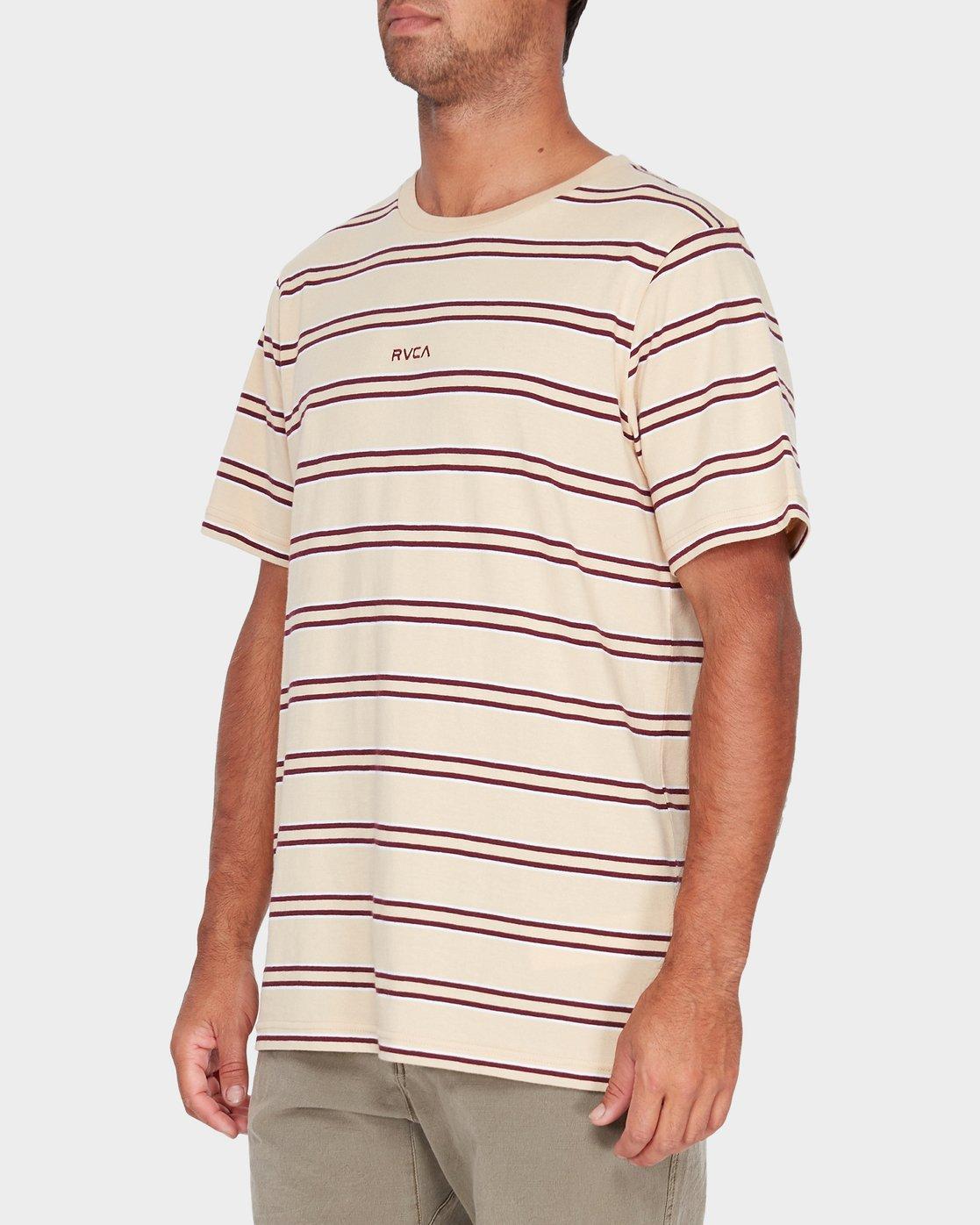 2 Focus Stripe Short Sleeve T-Shirt  R182051 RVCA